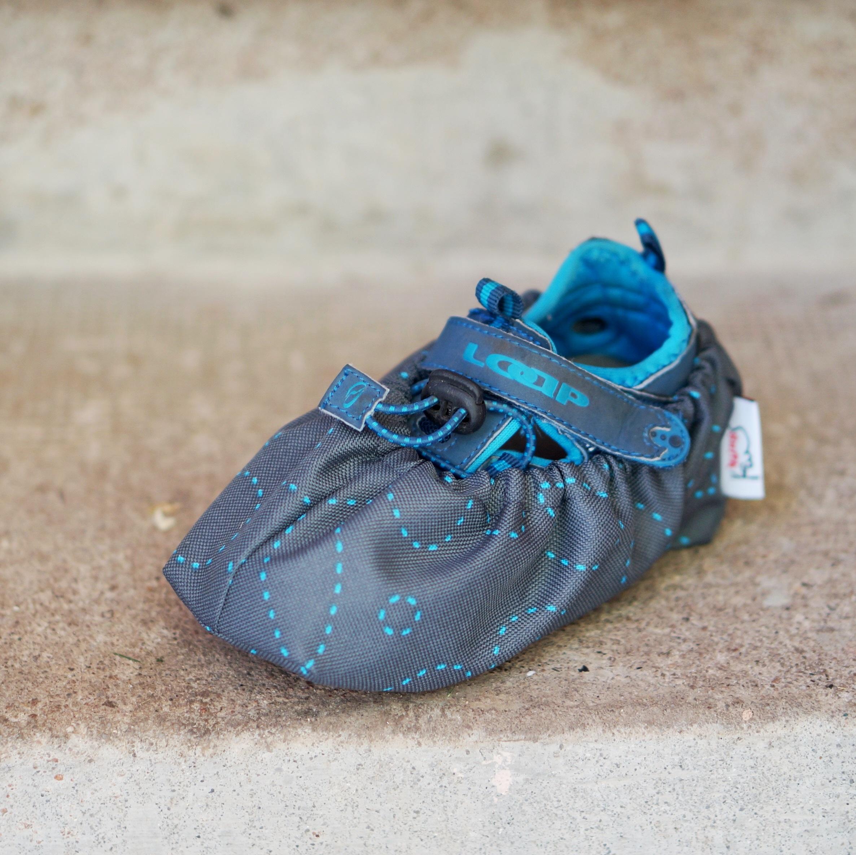 Návleky na boty 36-42 šité kytky šedé  2158509b52