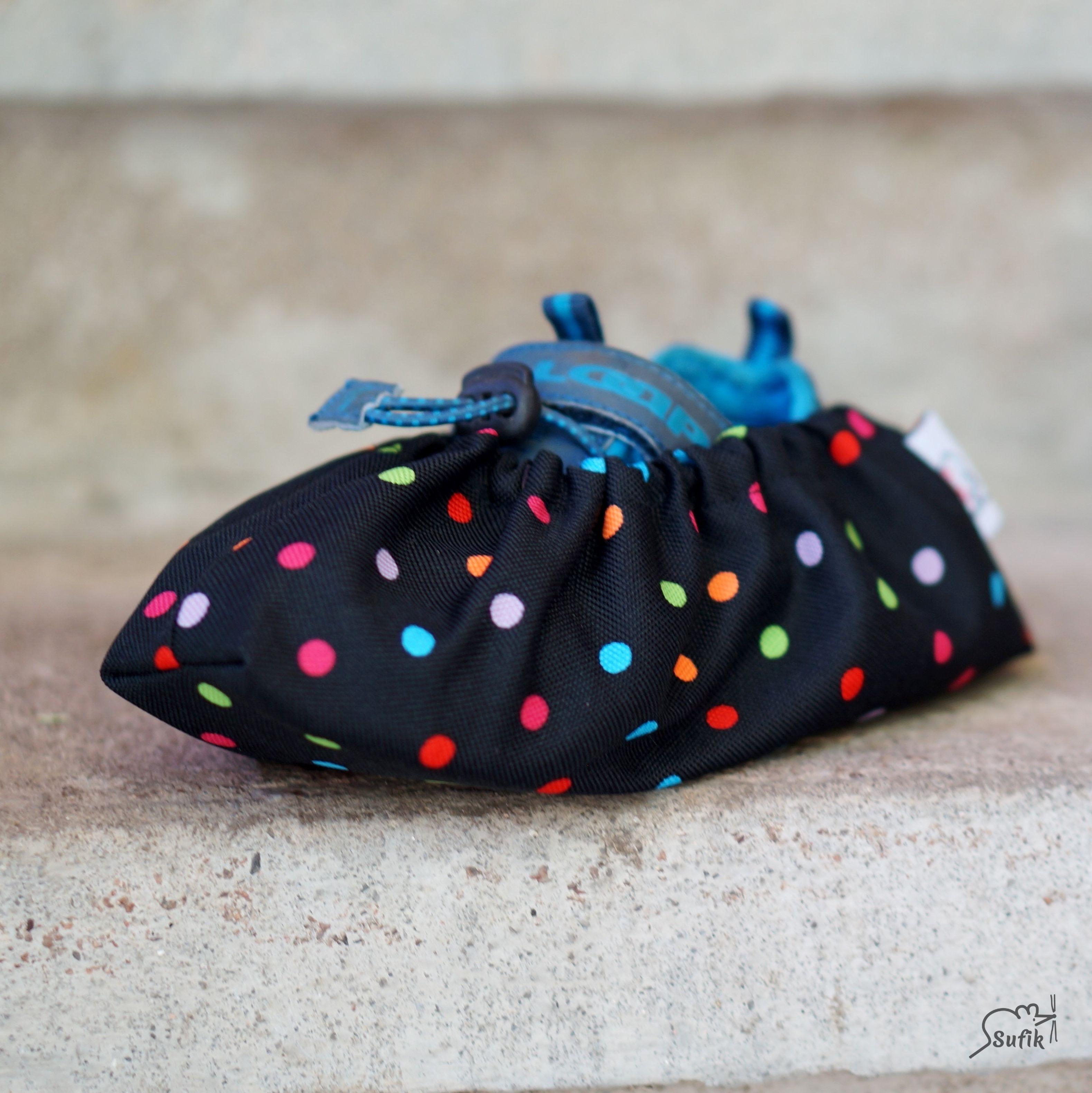 Návleky na boty 36-42 černá barevný puntík  ef6bb63567