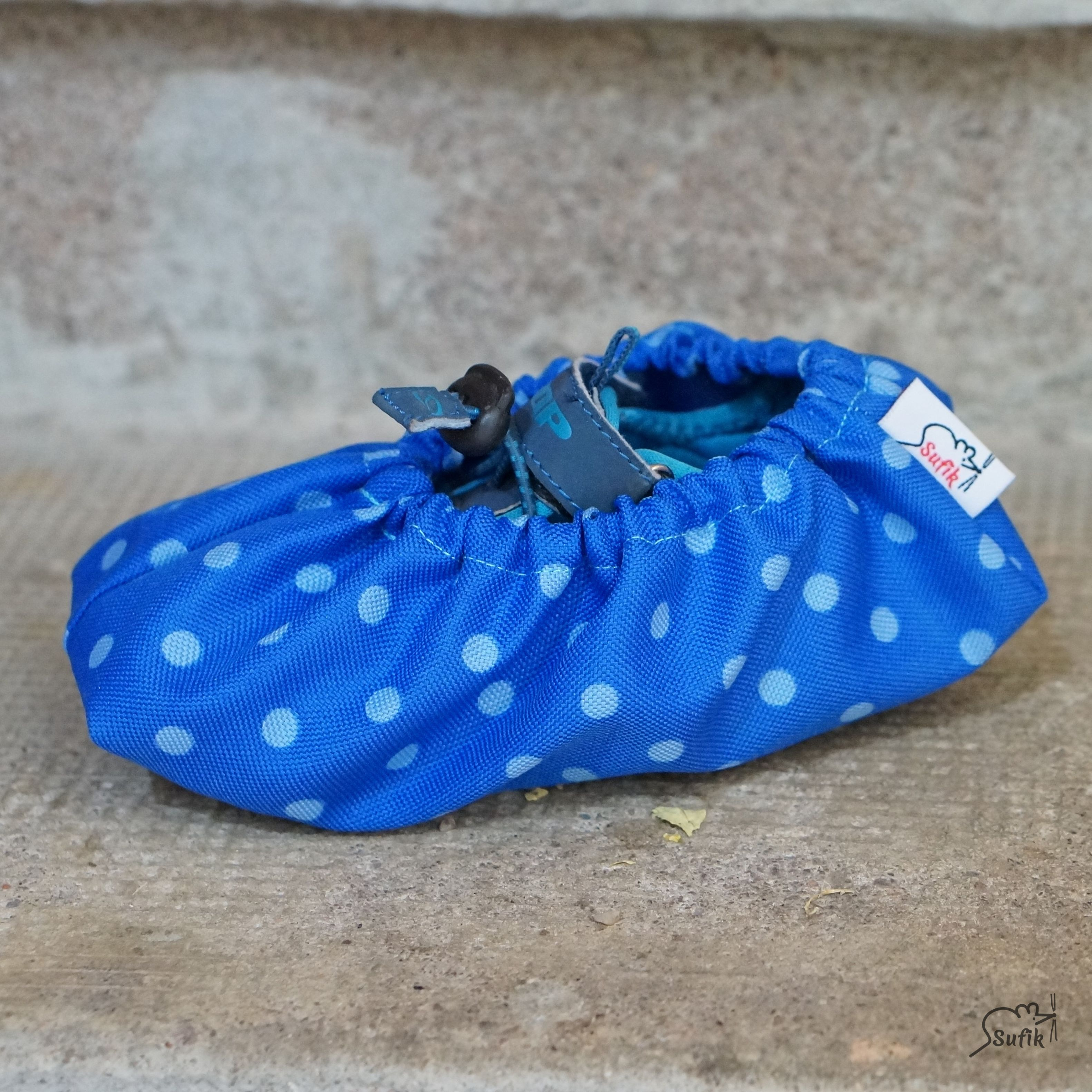 Návleky na boty 42-46 modrá puntík  aa407fe120