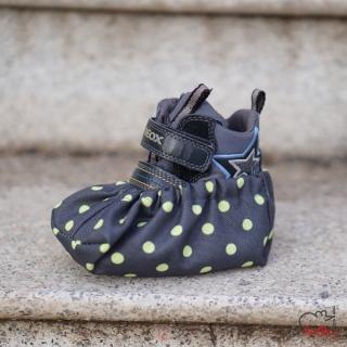 Návleky na boty 42-46 šedá zelený puntík empty c7d1e042a5